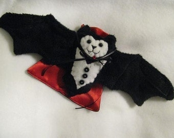 Vampire Bat Stuffed Animal, Coffee Cozy, Cup Sleeve