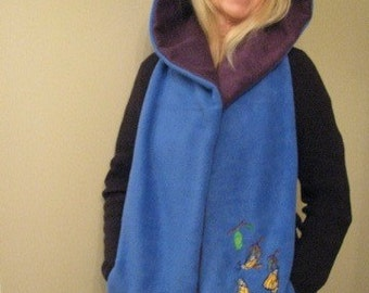 Monarch Butterfly Metamorphoses Hooded Scarf with pockets