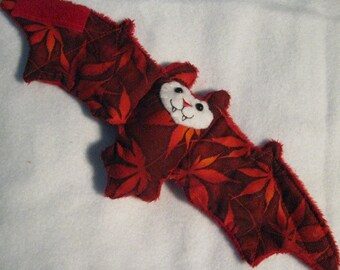 Fall Red Maple Leaves Bat Cup Sleeve, Coffee Cozy, Stuffed Animal