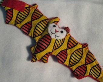 Red and Yellow Genes Bat Cup Sleeve, Stuffed Animal, Coffee Cozie