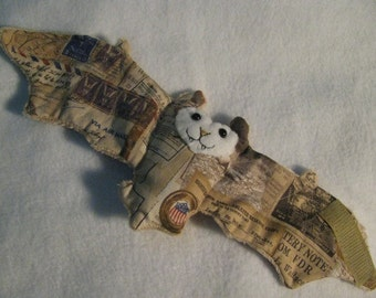 Wartime/Military/United States Bat Coffee Cozy, Cup Sleeve, Stuffed Animal