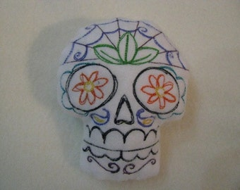 Large Sugar Skull Pincushion or stuffed animal