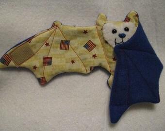 4th of July Bat Stuffed Animal\/Coffee Cozie\/Cup Sleeve