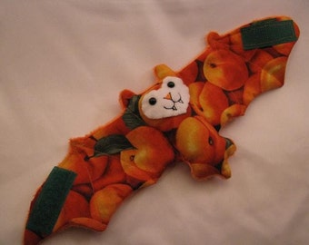 Apricot Bat Coffee Cozy\/Cup Sleeve\/ Stuffed Animal