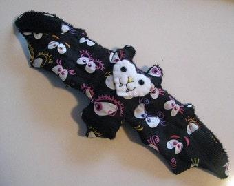 Scary Googly Eye Halloween Bat Coffee Cozy, Cup Sleeve, Stuffed Animal