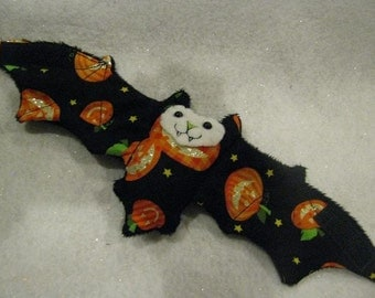 Sparkly Pumpkin Bat Coffee Cozy\/Cozie, Cup Sleeve, Stuffed Animal