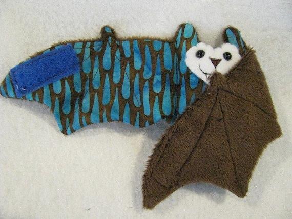 Rain on Brown - Bat Coffee Cozy, Cup Sleeve, Stuffed Animal, Plushie