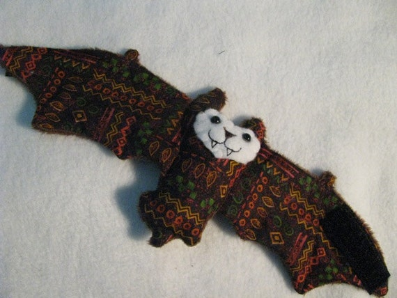 Cultural Lines Native Bat Stuffed Animal, Coffee Cozy, Cup Sleeve