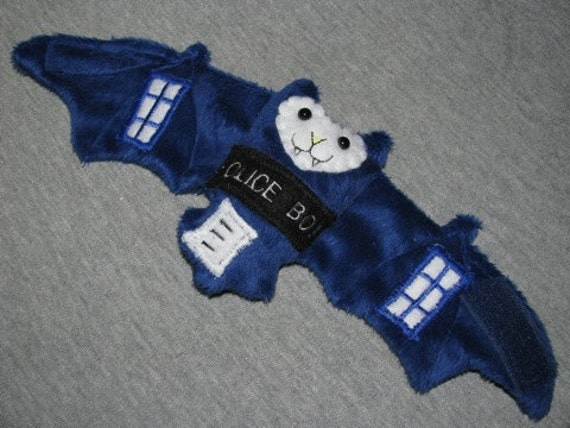 Doctor Who TARDIS Bat Cup Sleeve Stuffed Animal Plushie