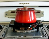Vintage Cornwall Fondue Pot With Warmer and Sticks