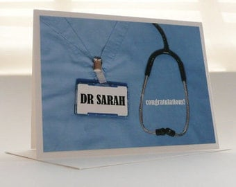 CUSTOM CARD for Med School Grad
