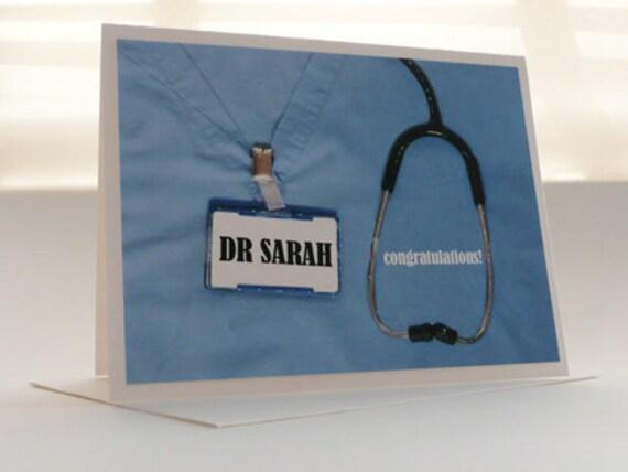 Medical School CUSTOM Graduation Card