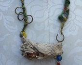 Colorful Grand Canyon wood Boho Necklace