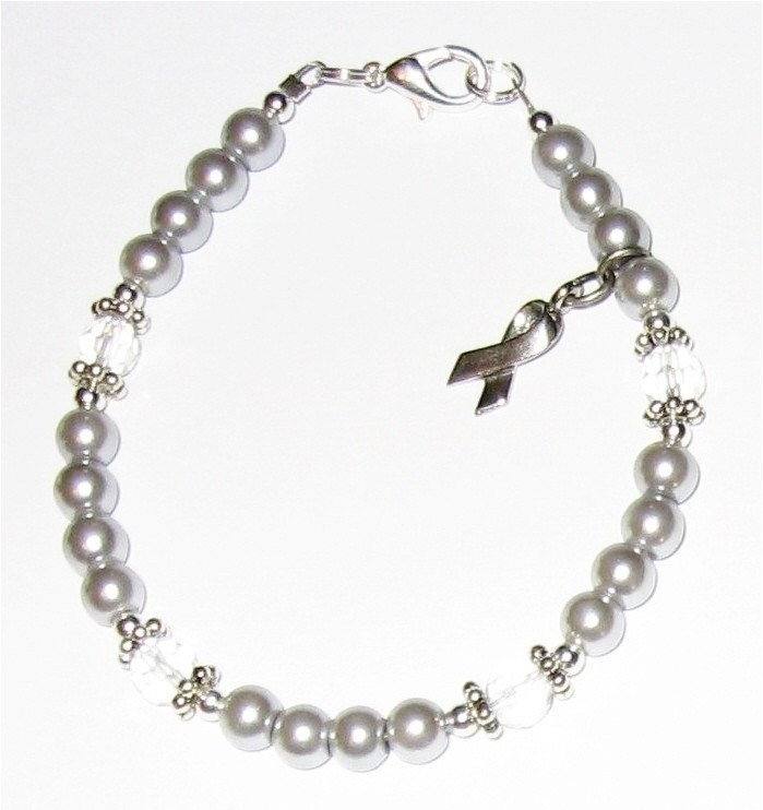 Dyslexia Awareness Silvers: PARKINSON'S DISEASE Awareness Bracelet With Silver Grey
