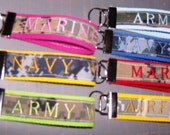 Military Wife Key Fob with Free Shipping