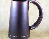 Leather Two Pint Tankard Mug