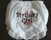 Monogrammed 1st Birthday Diaper Cover  Panty Cover