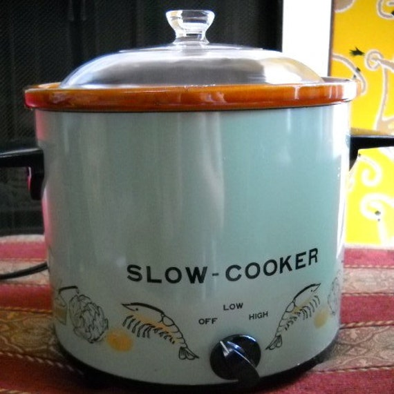 Electric Crock Pot ~ Slow cooker electric crock pot vintage