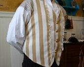 Dandy Frilled Caramel & Cream Wilde Edwardian Steampunk Vest