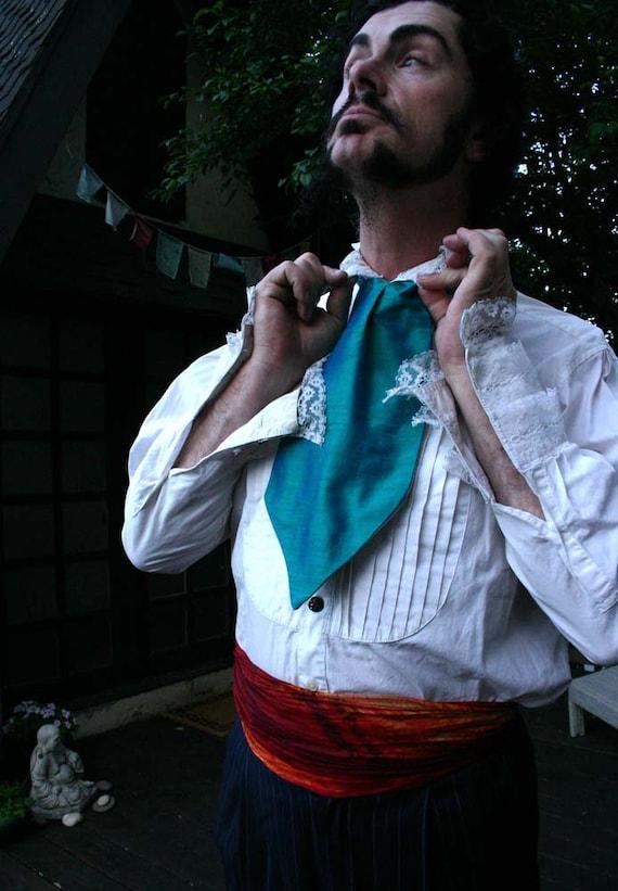 Peacock Silk Dupioni Boy's Ascot