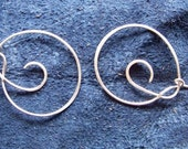 hoops of whirly-gigs earrings