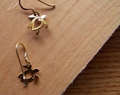 Rescued Charm Earrings - Traveling Turtles