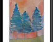 Forest ACEO Original Painting