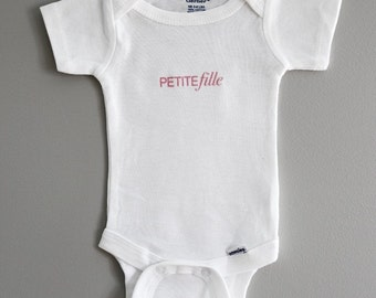 Petite Fille French Baby Onesie