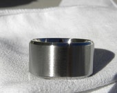 Wedding Ring EXTRA WIDE Beveled Edge Titanium Band