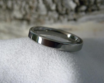 Titanium Ring, 2mm, 3mm, Flat Profile, Wedding Band