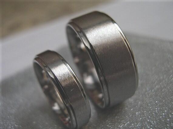 Titanium Ring Set Anniversary Wedding Bands AX10