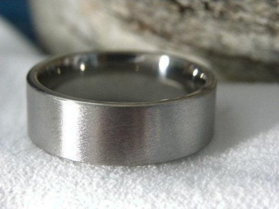 Titanium Ring, Stone Finish, Wedding Band AX16
