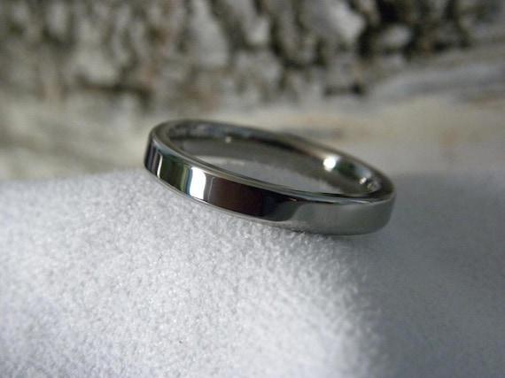 Titanium Ring, 2mm, 3mm, Flat Profile, Wedding Band