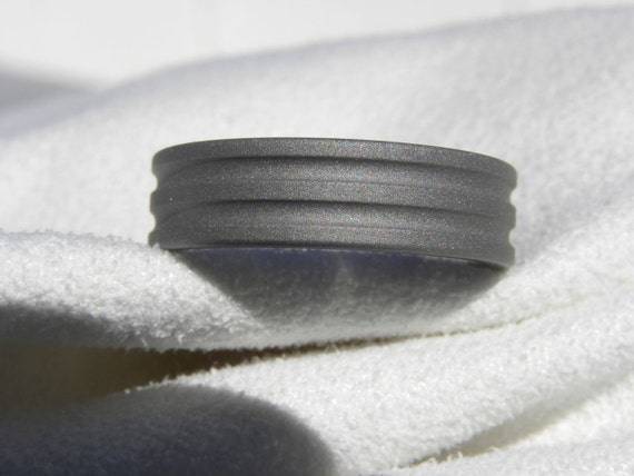 Mens Ring or Titanium Band Sandblasted Unique Handsome Style