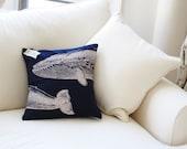 "Whale Pillow Case (16"")"