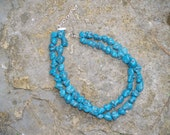 The Charley double strand turquoise necklace