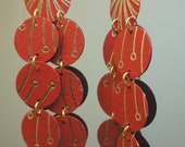 Long Paper Earrings from recycled paper