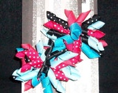BLACK, Turquoise and Pink Pair of Korkers