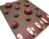 Mod Key \/ Jewelry Rack - Large - Berry Wine on Chocolate Brown