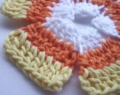 Set of 5 Crocheted Candy Corn Motifs