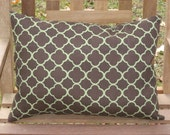 Outdoor Pillow Sparkles in Green and Brown