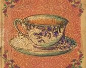 Orange Tea Cup A5 archival art print by Sweet William