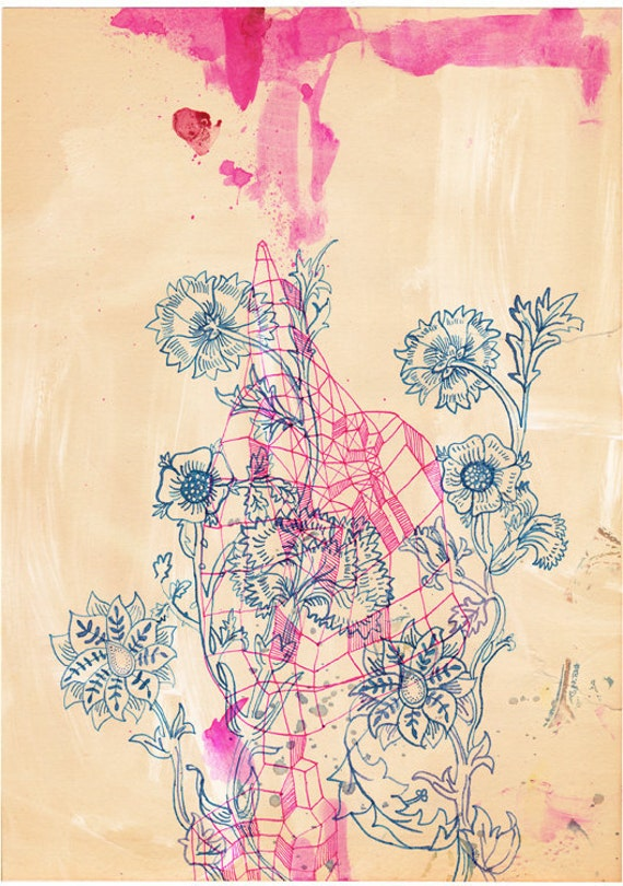 Pink Ink study - fine art archival print by Sweet William