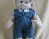 Stuffed Baby Boy sewing pattern digital pdf file