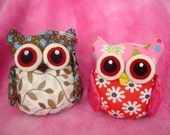 PDF Pattern to make these cute OWL pincushion/keychain