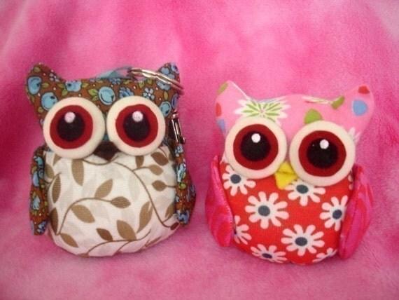 OWL sewing pattern pincushion keychain pin cushion