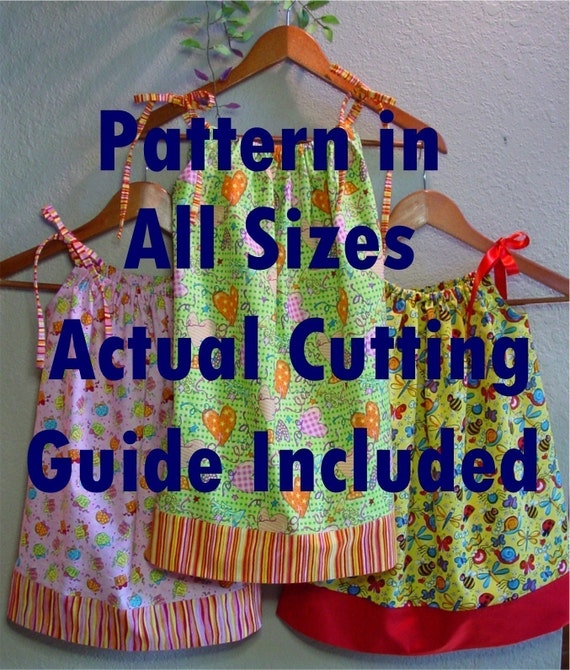 Pillowcase Dress Printed Pattern In All Childrens Sizes