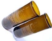 Set of Two IBC Soda Pop Bottle Drinking Glasses / Eco Friendly / Handmade
