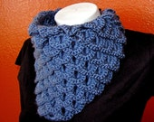 SALE Dragon Scale Neckwarmer in Denim Blue