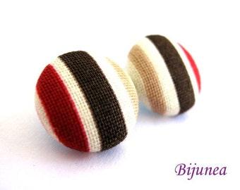 Stripes earrings studs sf364